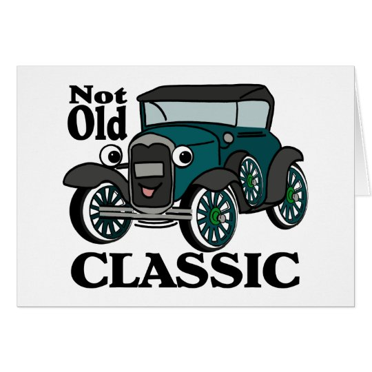 Not Old Classic/ Antique Car Card