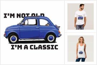 Not Old Classic Car Dark Blue Fiat