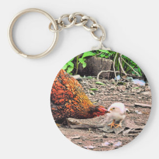 Not One Peep Out Of You! Basic Round Button Keychain