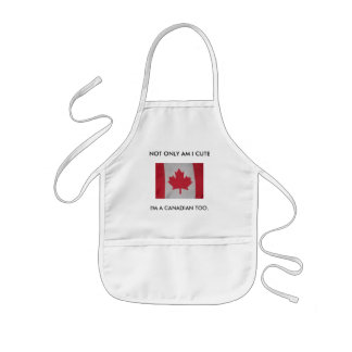 NOT ONLY AM I CUTE, I'M A CANADIAN TOO. baby bib Kids' Apron