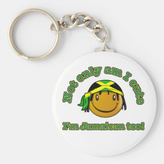 Not only am i cute I'm Jamaican too Key Chains