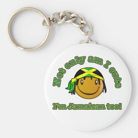 Not only am i cute I'm Jamaican too Keychain