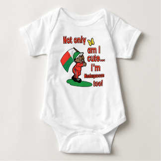 Not only am I cute I'm madagascan too! Baby Bodysuit