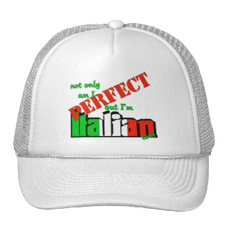 Not Only Am I Perfect But I'm Italian Too! Hat