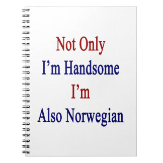 Not Only I'm Handsome I'm Also Norwegian Notebook