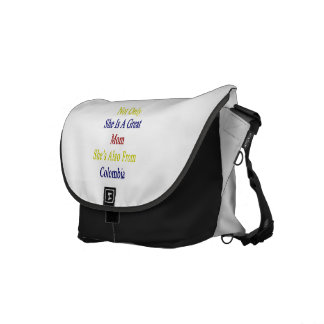 Not Only She Is A Great Mom She's Also From Colomb Messenger Bag