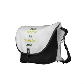 Not Only She Is A Great Mom She's Also From Jamaic Messenger Bag