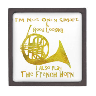 Not Only Smart French Horn Premium Jewelry Box