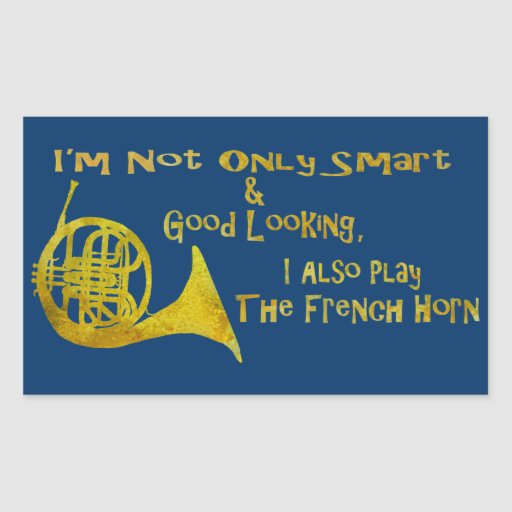 Not Only Smart French Horn Stickers