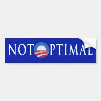 Not Optimal Car Bumper Sticker
