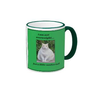 Not overweight fat cat mug