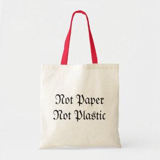Not paper Not plastic Tote Bag