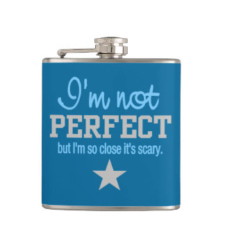 Not Perfect custom monogram flask