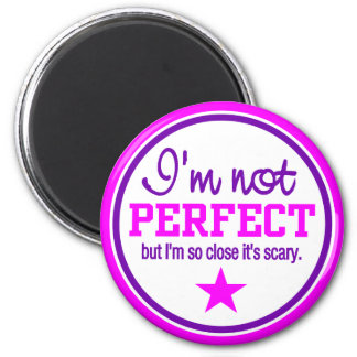 NOT PERFECT magnet - pink / purple