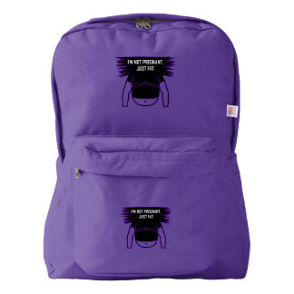 Not pregnant, just fat american apparel™ backpack