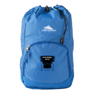 Not pregnant, just fat high sierra backpack