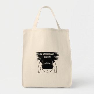 Not pregnant, just fat tote bag
