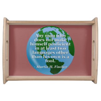 Not proficient in languages fool Quote. Globe Serving Tray