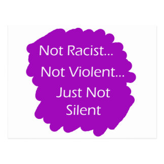 Not-Racist-Purple Postcard