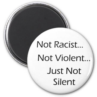 Not-Racist-White 2 Inch Round Magnet