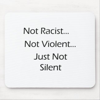 Not-Racist-White Mouse Pad