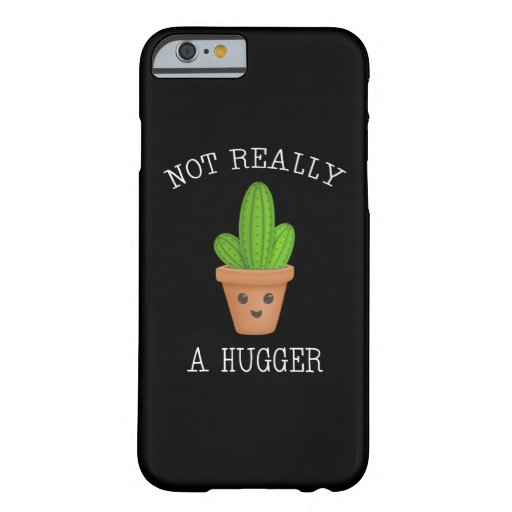 Not Really A Hugger Cute Kawaii Cactus Introvert Barely There iPhone 6 Case
