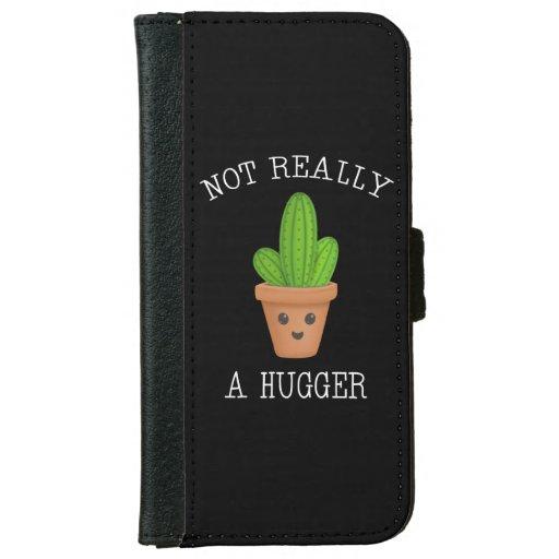Not Really A Hugger Cute Kawaii Cactus Introvert iPhone 6/6s Wallet Case
