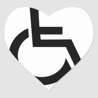 Not really handicapped just lazy - funny t-shirt.p heart sticker