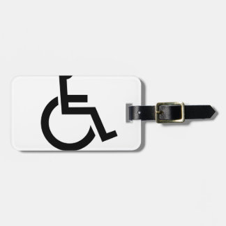 Not really handicapped just lazy - funny t-shirt.p luggage tag