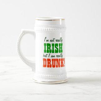 Not Really Irish Just Really Drunk 18 Oz Beer Stein