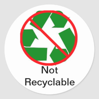 (Not) Recyling Labling Classic Round Sticker