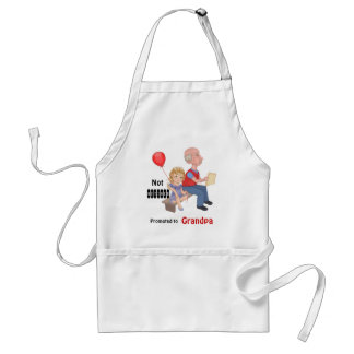 Not Retired Promoted Grandpa Adult Apron