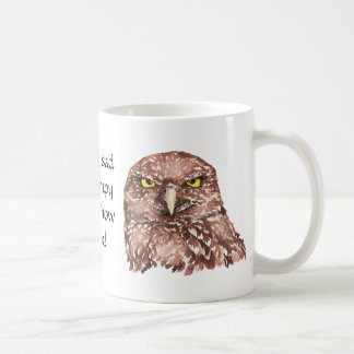 Not Sad or Grumpy this is how I look Owl Classic White Coffee Mug