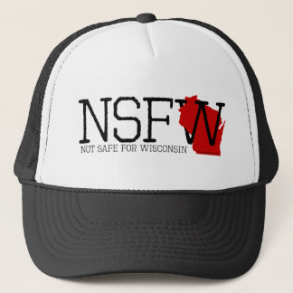 Not Safe for Wisconsin Trucker Hat
