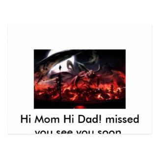 Not scarey .), Hi Mom Hi Dad! missed you see yo... Postcard