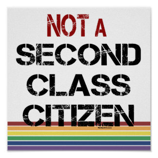 Not Second Class Citizen Posters