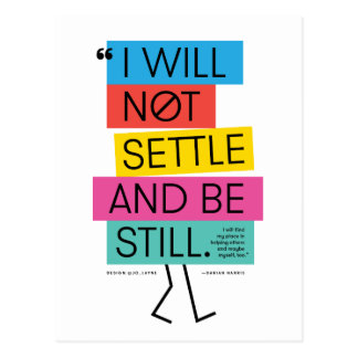 Not Settle Postcard