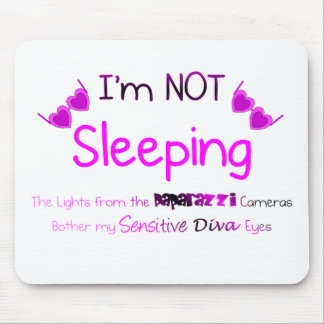 Not Sleeping Mouse Pad