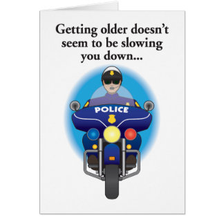 Not slowing down humorous birthday card