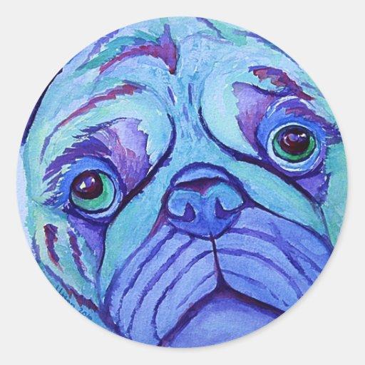 not smug pug classic round sticker