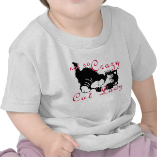 Not So Crazy Cat Lady Black Tees