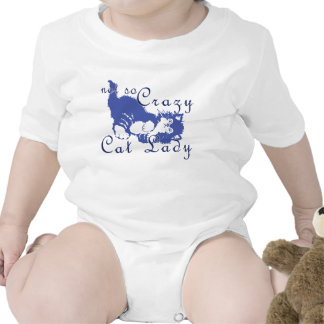 Not So Crazy Cat Lady Blue T-shirts