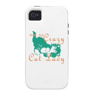Not So Crazy Cat Lady Green iPhone 4 Cover