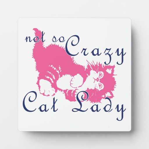 Not So Crazy Cat Lady Pink Display Plaques