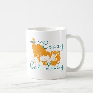 Not So Crazy Cat Lady Yellow Coffee Mug