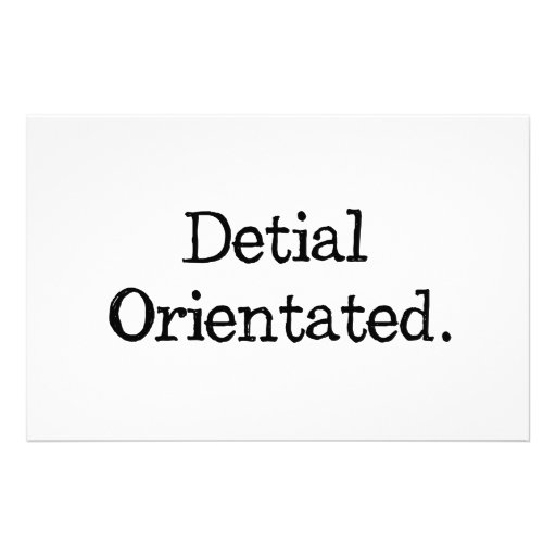 Not So Detail Oriented Customized Stationery