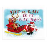 Not So easy Is it Fat Boy Postcard