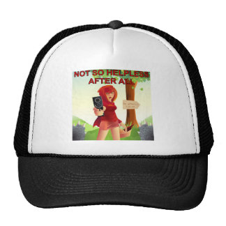 Not So Helpless After All With A Gun Trucker Hat