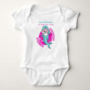 Not So Innocent Shark Dressed As Dolphin Baby Gift Baby Bodysuit