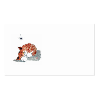 Not So Itsy Bitsy Spider and  Kitty Business Card